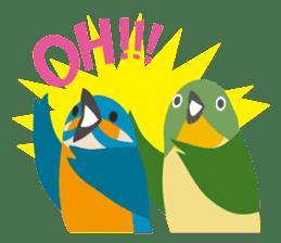 Japanese wild birds sticker #935114