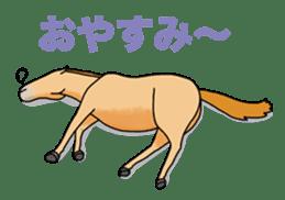 Juri Ogawa's HORSE Stickers sticker #937316