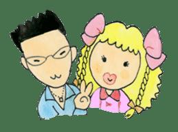 Showa couple ikukiti and ikumi sticker #937479
