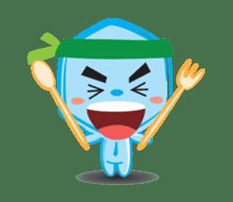 Blue life man sticker #937539