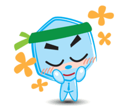 Blue life man sticker #937552