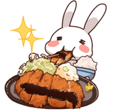 Gluttonous rabbit sticker #938200