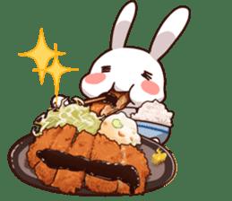 Gluttonous rabbit sticker #938200
