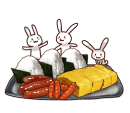 Gluttonous rabbit sticker #938204