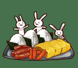 Gluttonous rabbit sticker #938204