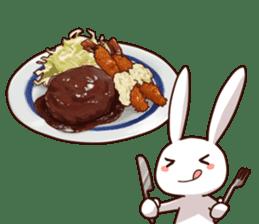 Gluttonous rabbit sticker #938205
