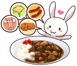 Gluttonous rabbit sticker #938206