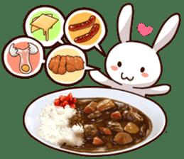 Gluttonous rabbit sticker #938206