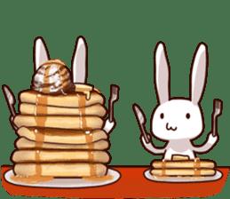 Gluttonous rabbit sticker #938207