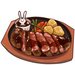 Gluttonous rabbit sticker #938208