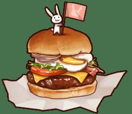 Gluttonous rabbit sticker #938211