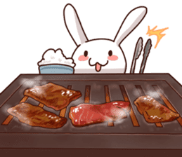 Gluttonous rabbit sticker #938213