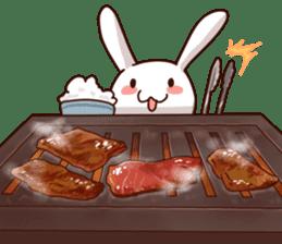 Gluttonous rabbit sticker #938213