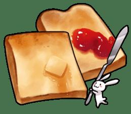 Gluttonous rabbit sticker #938217