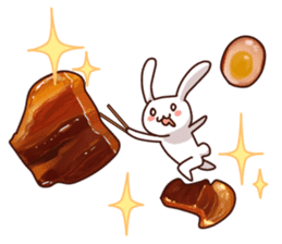 Gluttonous rabbit sticker #938219