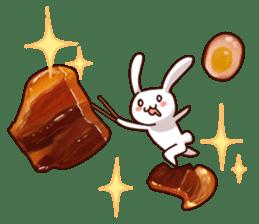 Gluttonous rabbit sticker #938219