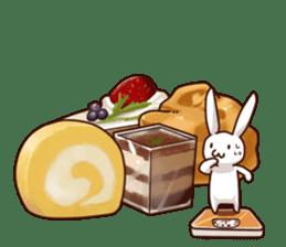 Gluttonous rabbit sticker #938221