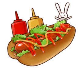 Gluttonous rabbit sticker #938223
