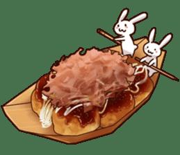 Gluttonous rabbit sticker #938224