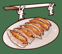 Gluttonous rabbit sticker #938226