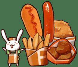 Gluttonous rabbit sticker #938228