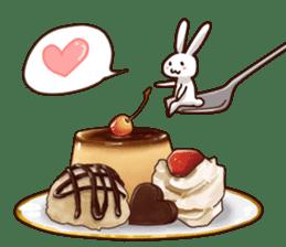 Gluttonous rabbit sticker #938229