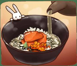 Gluttonous rabbit sticker #938230