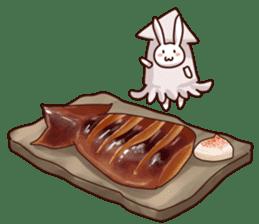 Gluttonous rabbit sticker #938231
