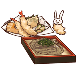 Gluttonous rabbit sticker #938233