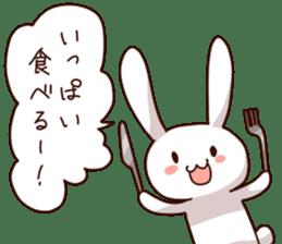 Gluttonous rabbit sticker #938234