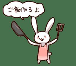 Gluttonous rabbit sticker #938236
