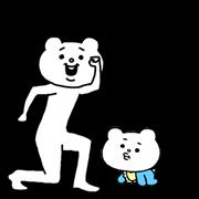 สติ๊กเกอร์ไลน์ Aggressive Bear Betakkumaดุ๊กดิ๊กพูดได้2