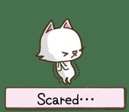 White cat sticker -English- sticker #939120
