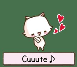 White cat sticker -English- sticker #939124