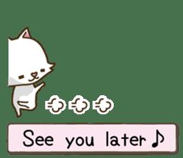 White cat sticker -English- sticker #939126