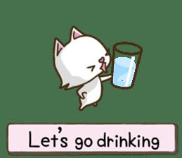 White cat sticker -English- sticker #939128