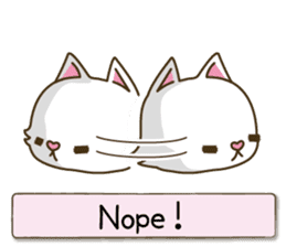 White cat sticker -English- sticker #939131