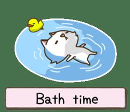 White cat sticker -English- sticker #939135