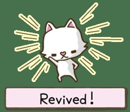 White cat sticker -English- sticker #939138