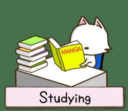 White cat sticker -English- sticker #939149