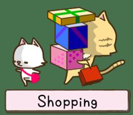White cat sticker -English- sticker #939151