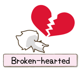 White cat sticker -English- sticker #939155