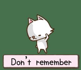 White cat sticker -English- sticker #939158