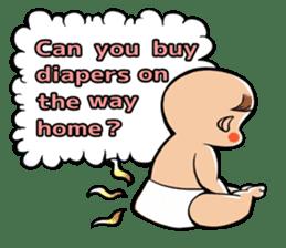 Daddy, please! Cute babies.(English) sticker #941611