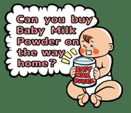 Daddy, please! Cute babies.(English) sticker #941612