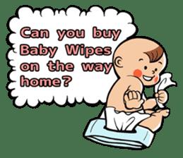 Daddy, please! Cute babies.(English) sticker #941614