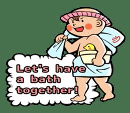 Daddy, please! Cute babies.(English) sticker #941619
