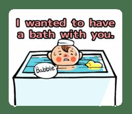 Daddy, please! Cute babies.(English) sticker #941622