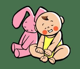 Daddy, please! Cute babies.(English) sticker #941630
