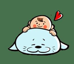Daddy, please! Cute babies.(English) sticker #941635